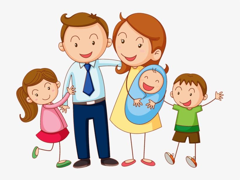 Картинка родители и дети вместе на прозрачном фоне