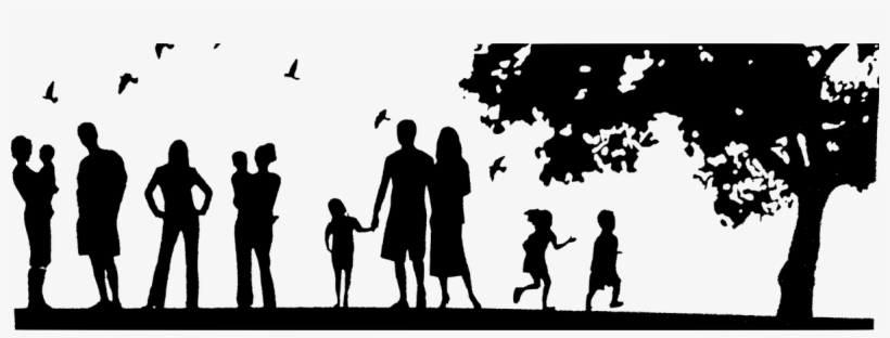 Vector Transparent Library Family Silhouette Clipart - Save Our Green Spaces, transparent png #1344