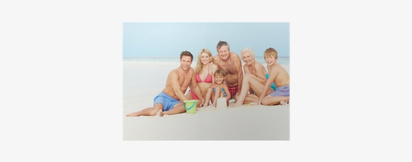 Multi Generation Family Having Fun On Beach Holiday - Mud Pie - Best Family Ever Frame, transparent png #1543