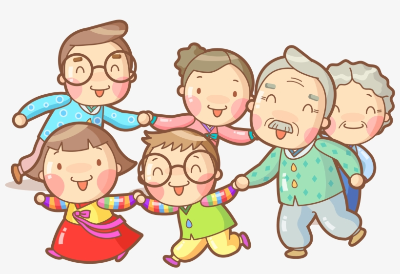 Cartoon Drawing Illustration - Happy Family Drawing - Free ...
