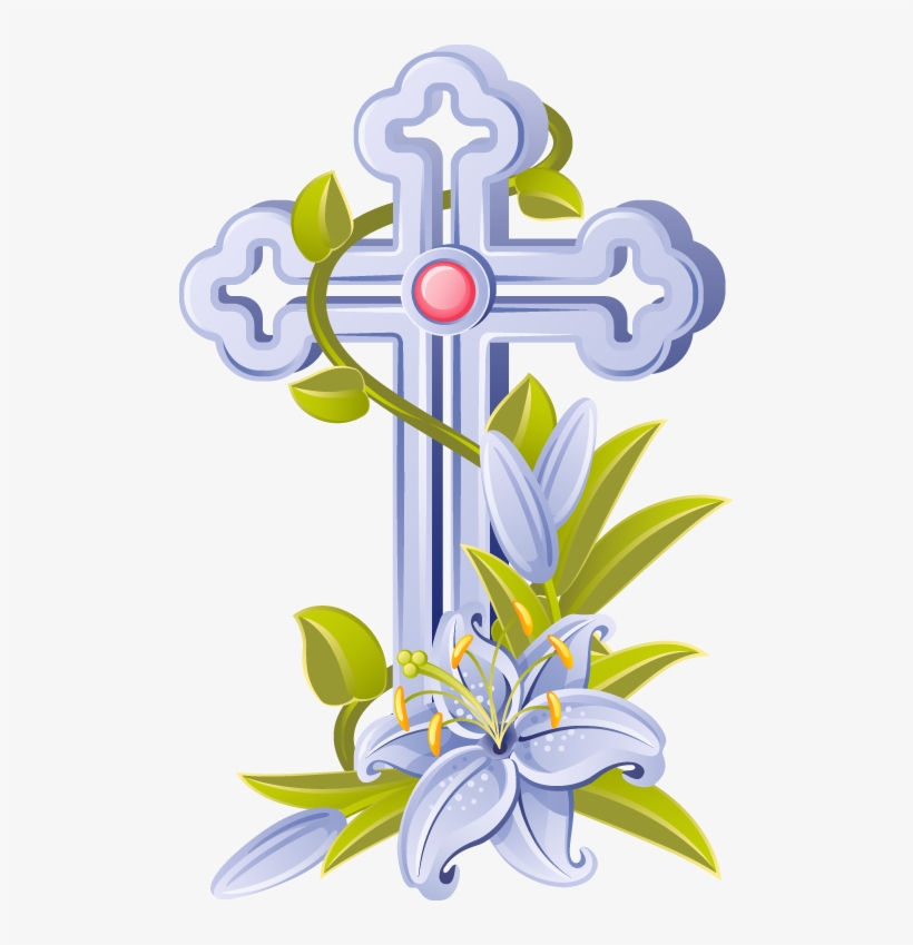Cross Religious Easter Christian Coloring Page Clip - Christian Cross Images Clip Art, transparent png #1623
