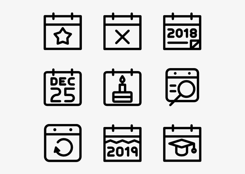Calendar And Date - School Icons Vector Png, transparent png #1741