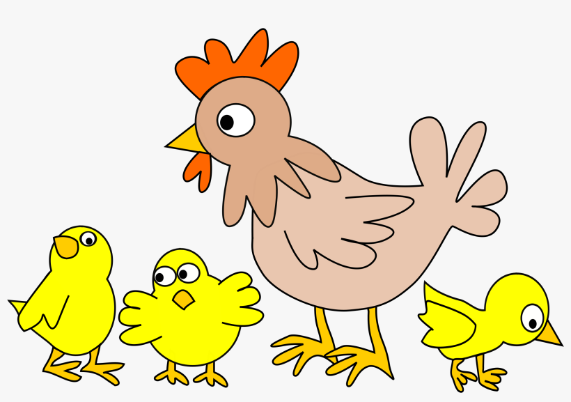 Impressive Baby Farm Animals Clip Art And Kids Clipart - Cartoon Chicken With Chicks, transparent png #1794