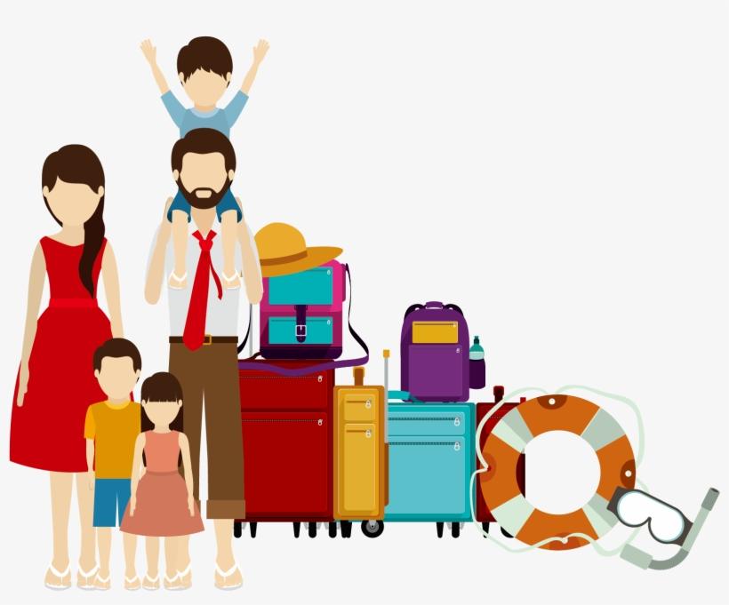 Family Travel Illustration, transparent png #2182