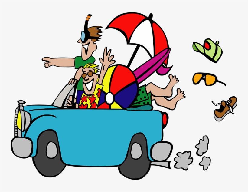 Cartoon Related - - 2 Girls Road Trip Clipart - Free ...