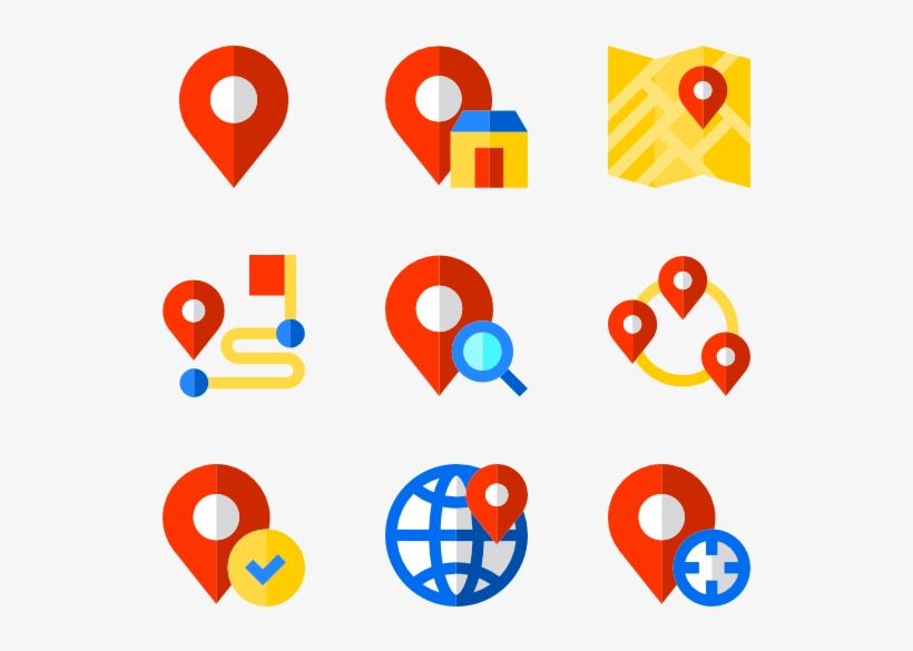 Location Set 37 Icons - Different Location Icon Png, transparent png #275
