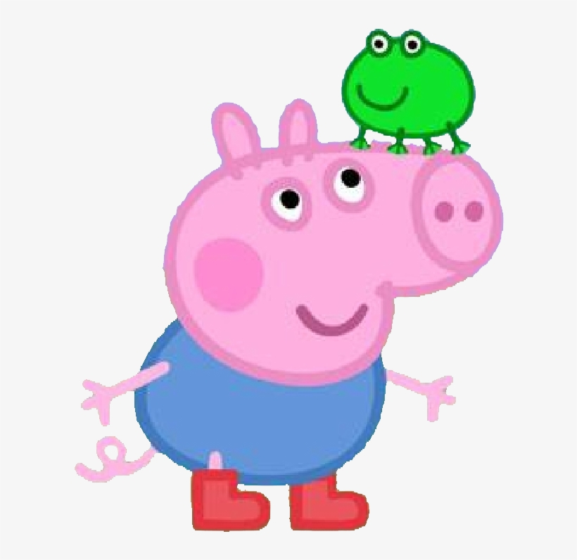 Peppa Pig In Muddy Puddle Transparent Png Image - George Peppa Pig Png, transparent png #2904
