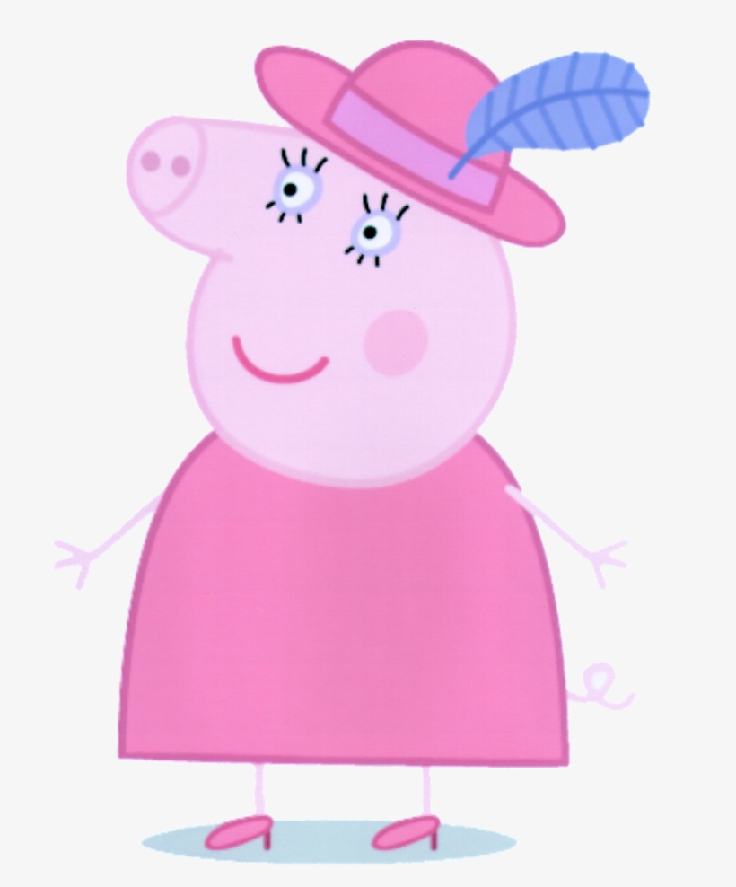 Minus Pegga Pig, Pig Party, Cupcake Party, Pig Character, - Peppa Pig Characters Grandma, transparent png #2996
