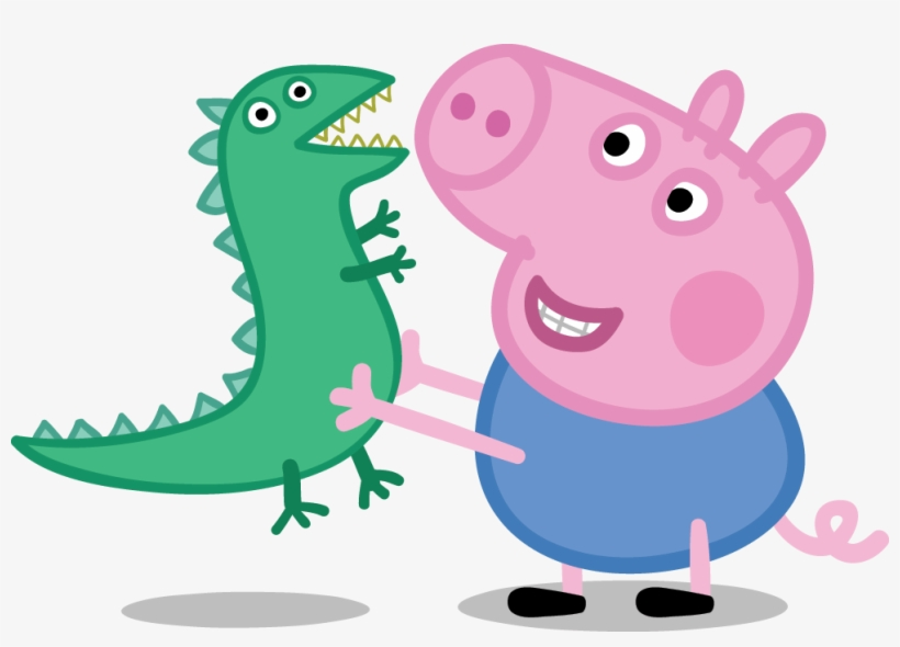 George Playing With Dinosaur Transparent Png Stickpng - Hermano De Peppa Pig, transparent png #3047
