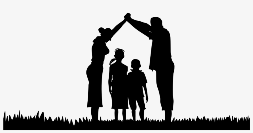 Onlinelabels Clip Art Family Silhouette Png Free Transparent Png Download Pngkey