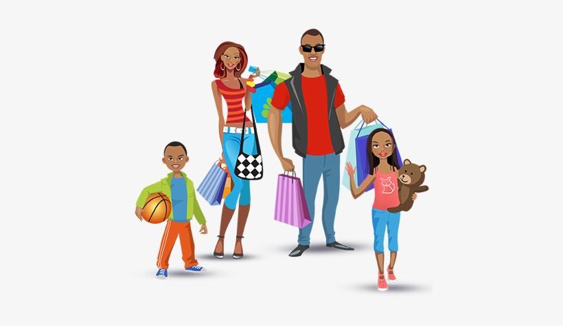 Mobi4 Smart Shopping - Family Shopping Png, transparent png #3158