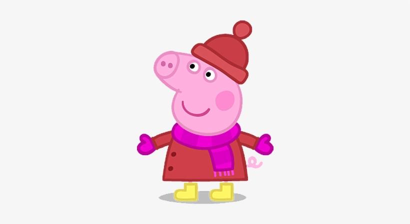 Yükle Cartoon Characters - Peppa Pig - Peppa Christmas Dvd, transparent png #3186