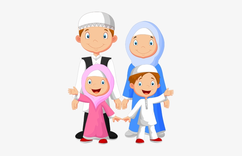 Family Islam Muslim Family Cartoon Png Free Transparent Png Download Pngkey