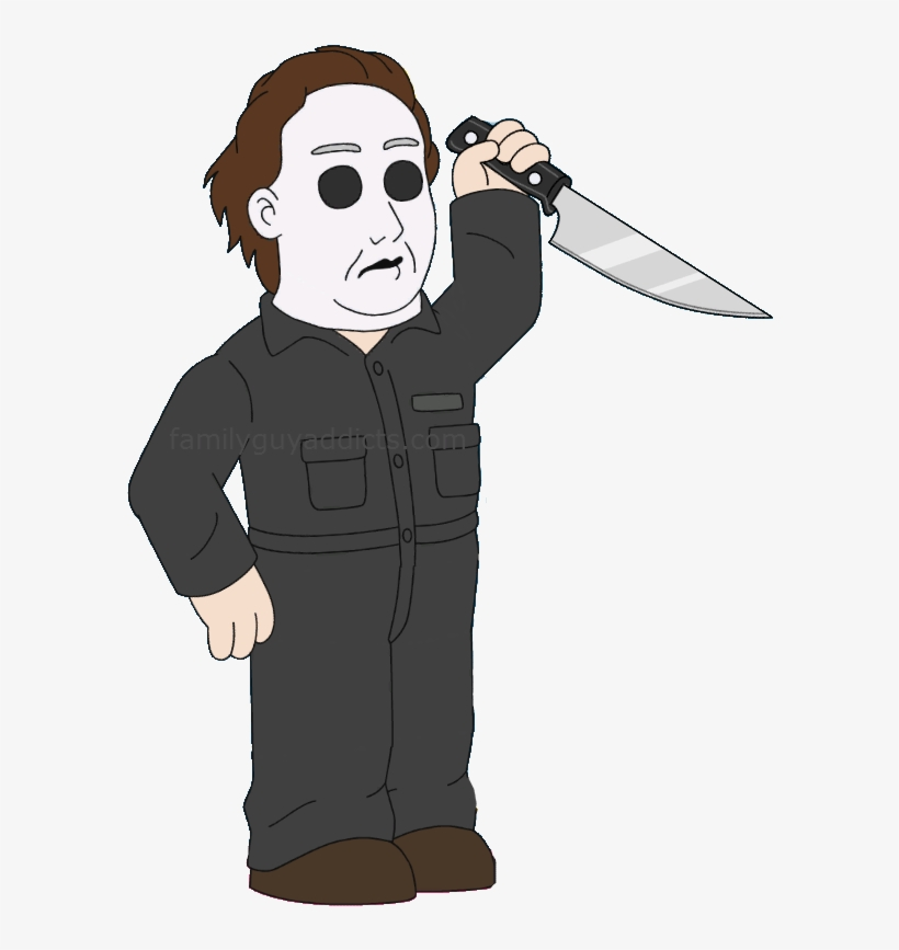 The Quest For Stuff Michael Myers Ghostface Laurie - Family Guy Michael Myers, transparent png #3738