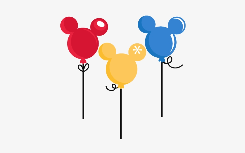 Walt Disney World Balloons Clipart Amp Walt Disney - Mickey Mouse Balloons Png, transparent png #3808