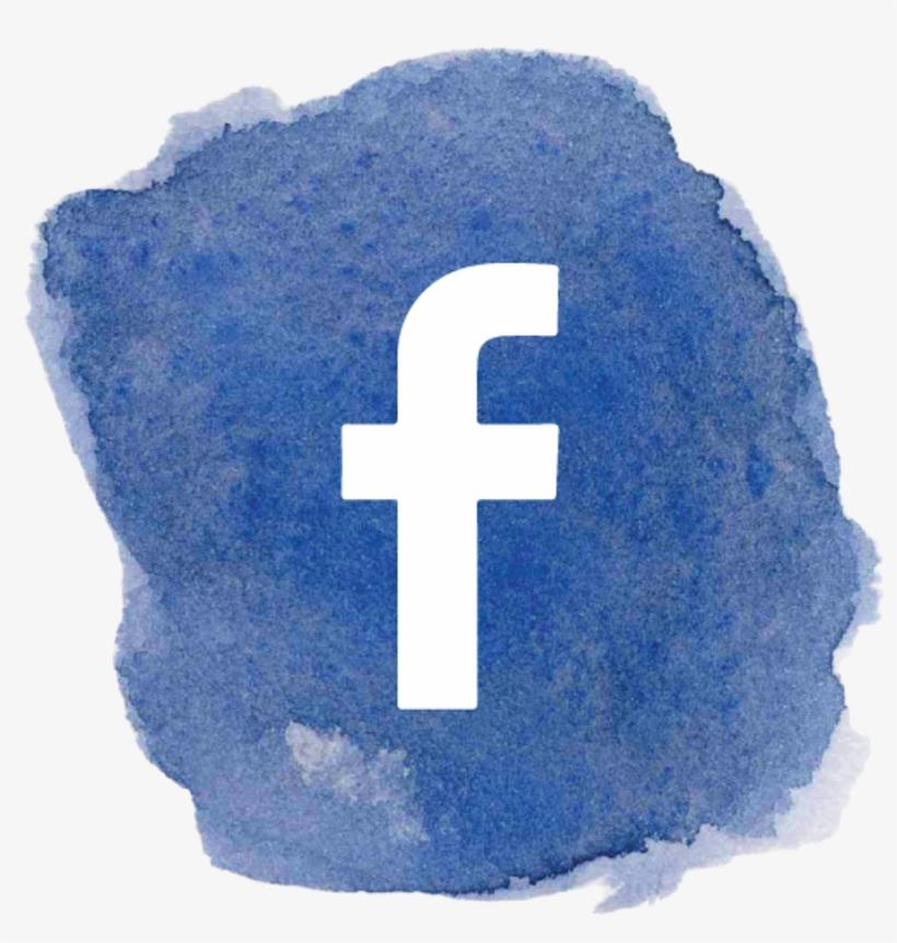 Logo Facebook Facebooklogo Fb F Blue Watercolor Art - Fb Logo Social Media Png, transparent png #4135