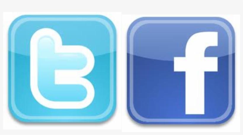 Facebook Twitter Logo Png - Twitter Facebook Logos Png, transparent png #4141