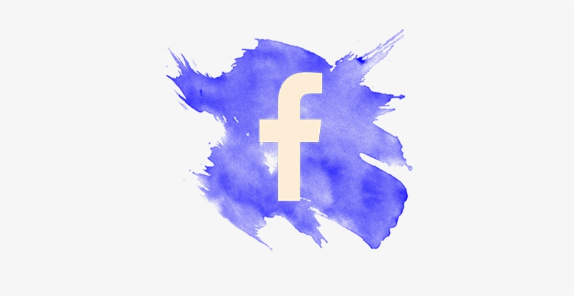 Facebook - Watercolor Facebook Logo Png, transparent png #4167