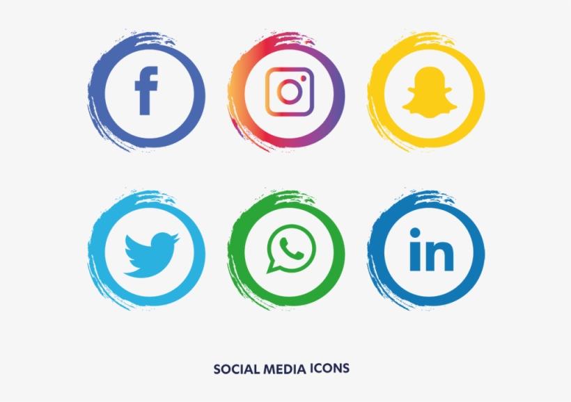 Social Media Icons Set - Facebook Instagram Whatsapp Png, transparent png #4201
