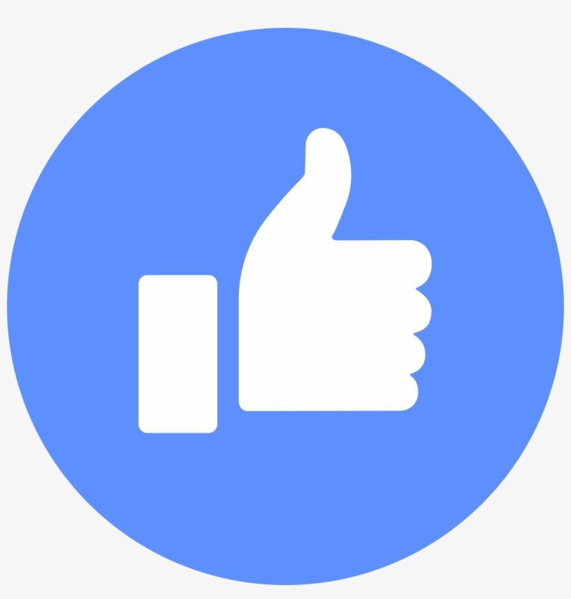 Facebook Like Logo Png Transparent - Facebook Messenger Round Icon, transparent png #4229