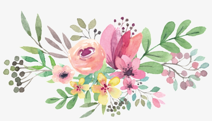 Watercolor Floral Bouquet Png - Watercolor Flowers Vector Png, transparent png #4256