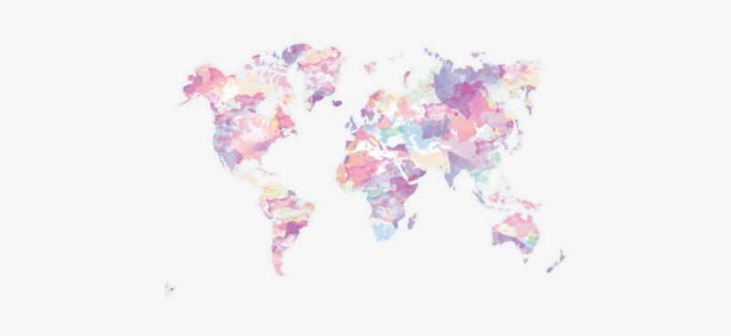 Tumblr Mmdqy0w5wp1sn8g5ko1 500 - Pastel Watercolor World Map, transparent png #4259