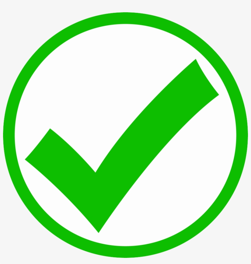Image Checkmark - Green Circle Check Mark, transparent png #4418