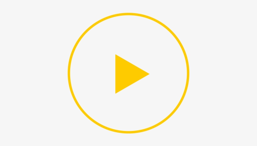 Yellow Play Button Png, transparent png #4459