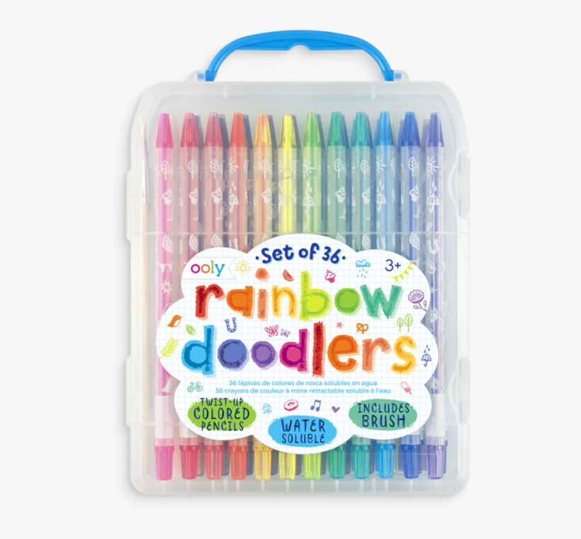 Rainbow Doodlers Watercolor Pencils - Pencils Colored, transparent png #4546
