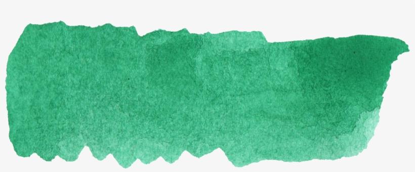 Free Download - Green Watercolor Brush Stroke, transparent png #4600