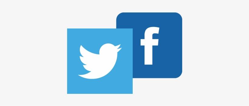 Transparent Twitter Facebook Logo - Facebook Twitter Logo Png, transparent png #4608