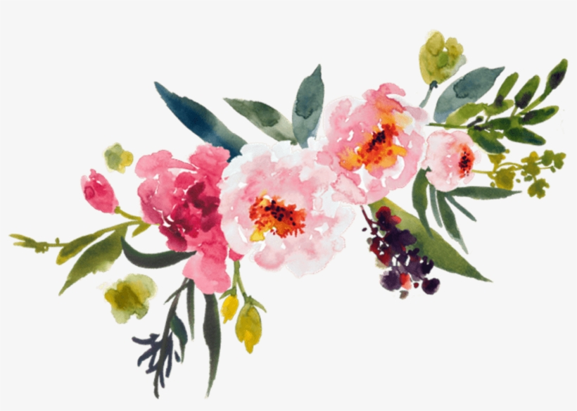 Clip Transparent Stock Flowers Clipart Transparent - Transparent Watercolor Flower Png, transparent png #4691