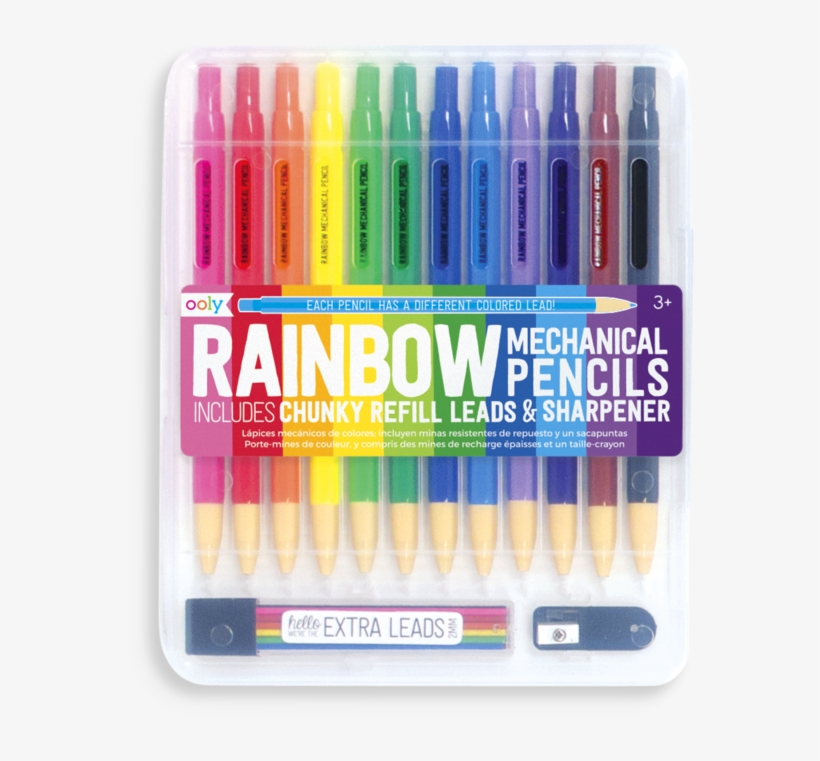 Rainbow Mechanical Colored Pencils - Colored Lead Pencils, transparent png #4739