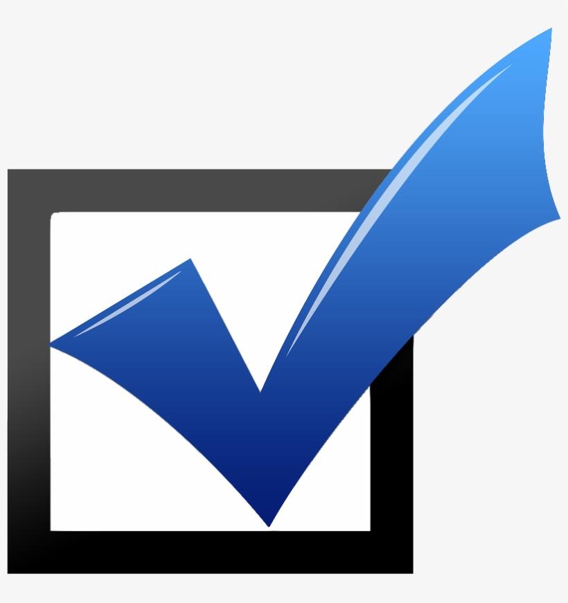 Blue Check Mark Images - Blue Check Mark Box, transparent png #4795