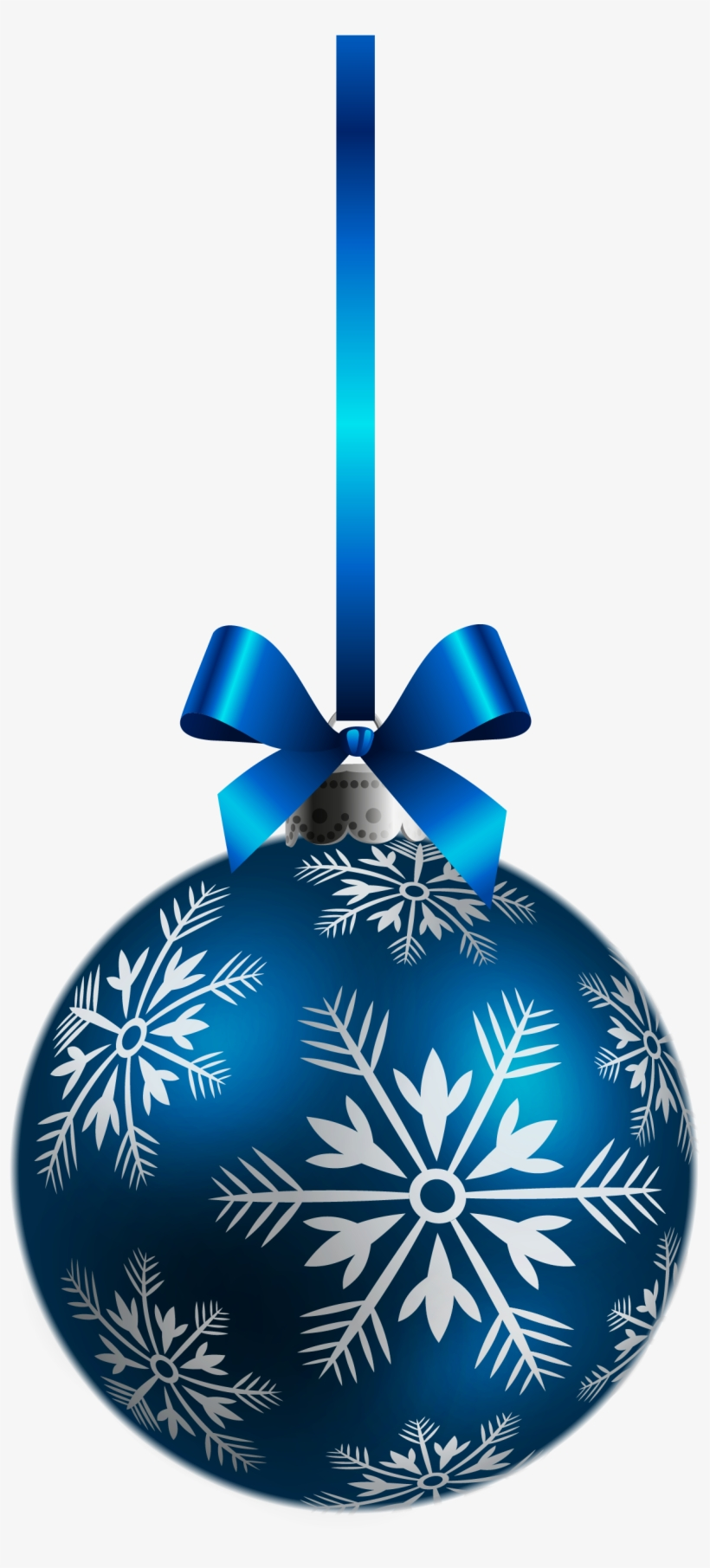 Large Transparent Blue Christmas Ball Ornament Png - Christmas Pattern Design Sofa Pillow Case, transparent png #4873