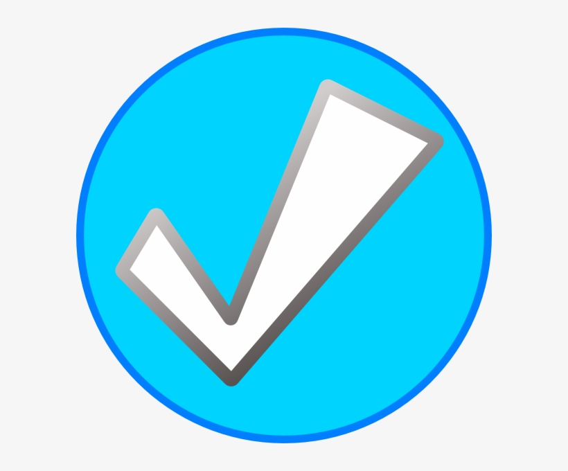 Facebook Check Clipart - Blue Check Mark With Circle, transparent png #5058