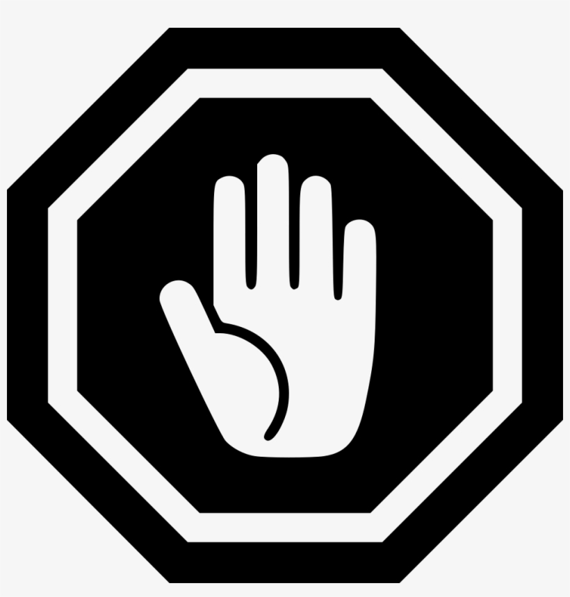 Stop Sign - - Stop Hand Sign Svg, transparent png #5226
