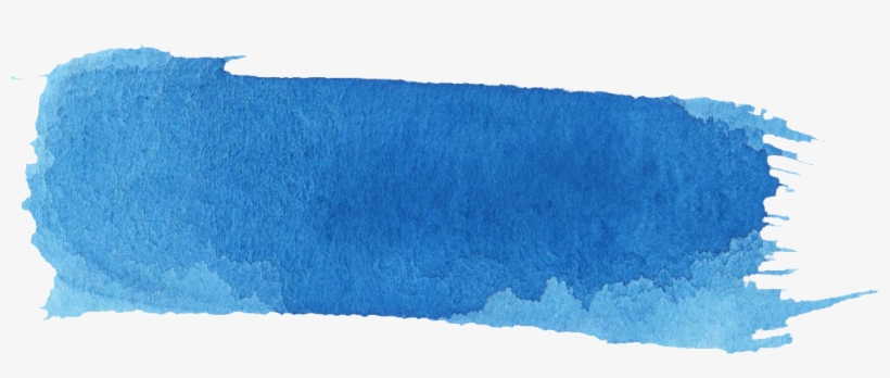 16 Blue Watercolor Brush Stroke Banner - Paint Brush Stroke Blue Png, transparent png #5544