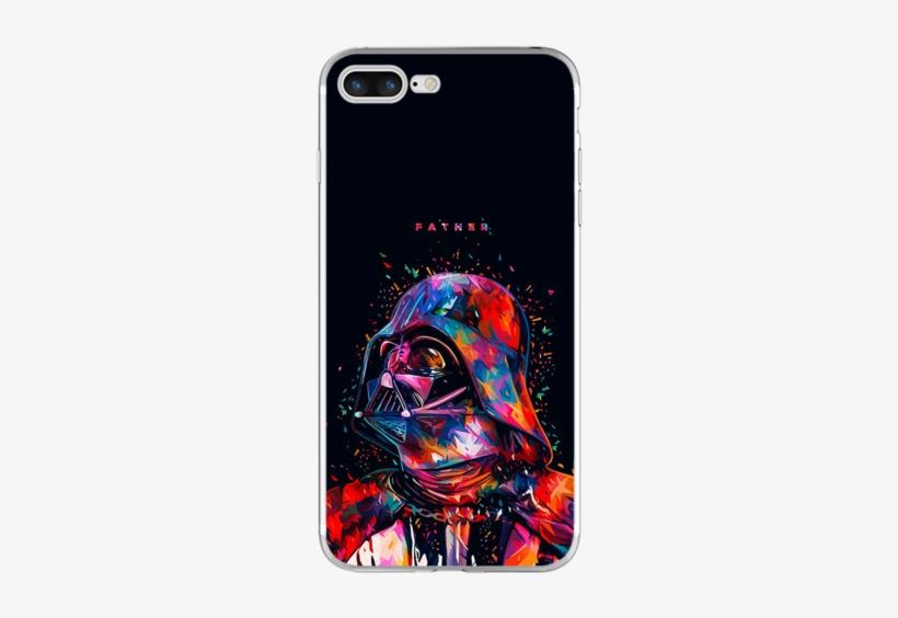 Star Wars Darth Vader Watercolor Phone Cases Samsung - Star Wars Darth Vader Painting, transparent png #5726