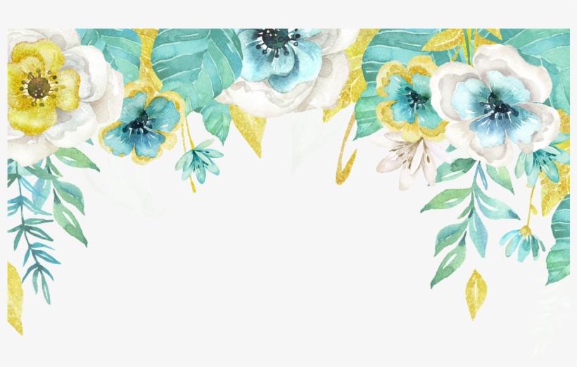Fotki Flower Frame Flower Art Wallpaper Backgrounds Mint Floral Border Free Transparent Png Download Pngkey