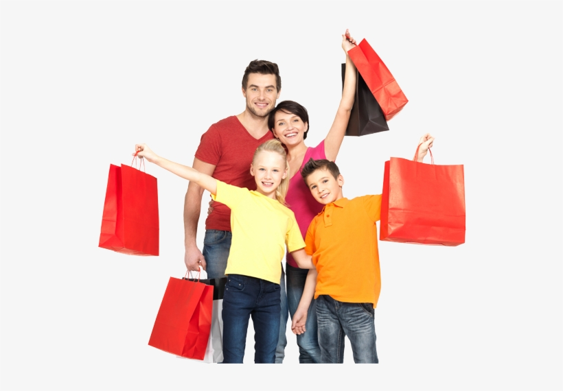 Shopping Download Png - Cloth Shopping With Family, transparent png #613