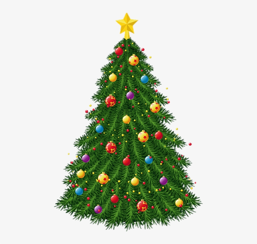 Transparent Christmas Tree With Ornaments Png Picture - Blinking Christmas Tree Clipart, transparent png #6162