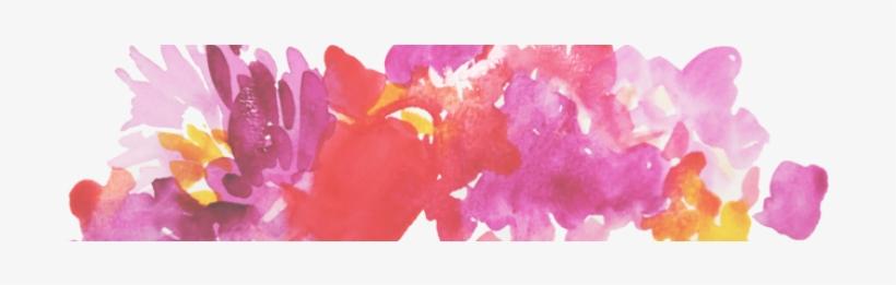 Live Laugh Love - Water Color Floral Header, transparent png #6404