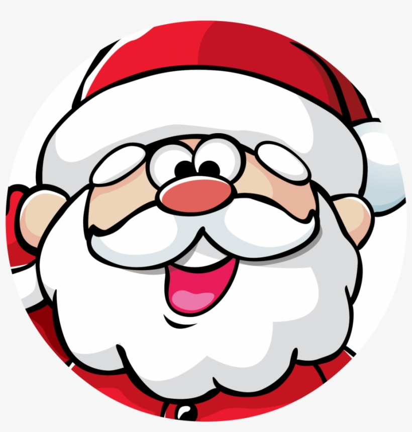 Christmas Santa Face Transparent Background Png - Christmas Day, transparent png #6527