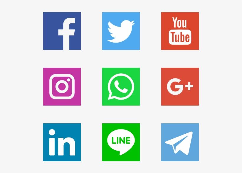 Social Networks Logos - Social Networking Website Logo, transparent png #6550
