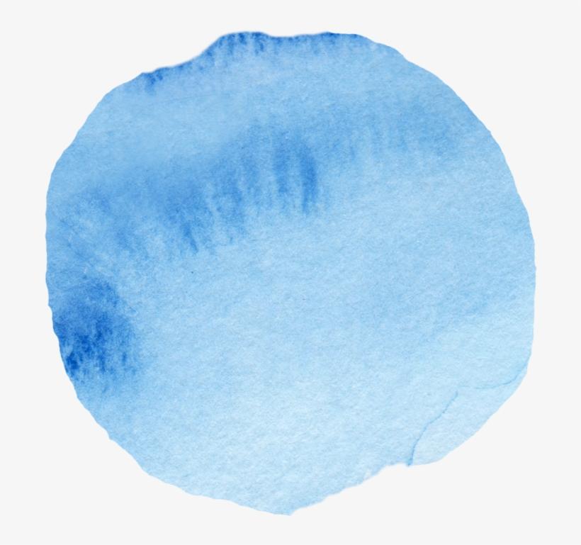 "Brian& Liz - "" - Watercolor Circle Png Blue, transparent png #6818"