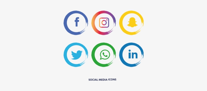 Social Media Icons Set - Facebook Instagram Whatsapp Png, transparent png #6880