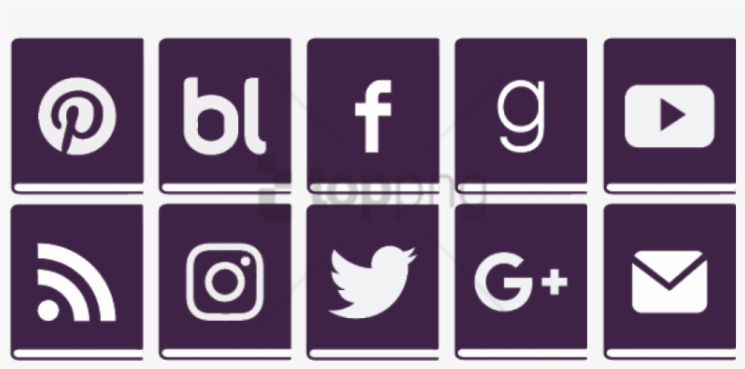 Social Media Icons Png - Transparent Background Social Media Icons Free Png, transparent png #6936