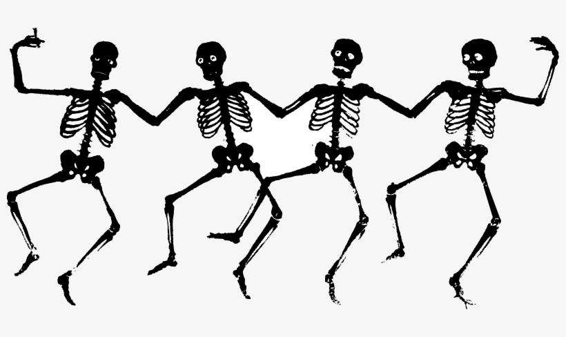 This Graphics Is The Art Of Skulls Dancing About Dance, - Creepy Halloween Clip Art, transparent png #6981