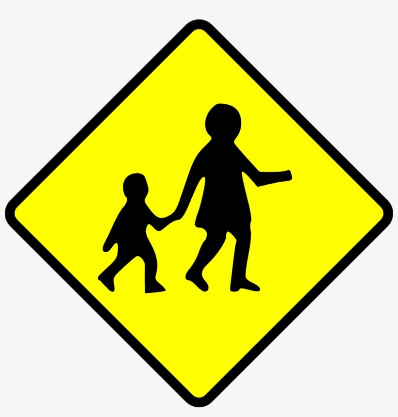 Caution Children Crossing - Clip Art Cross Walk - Free ...